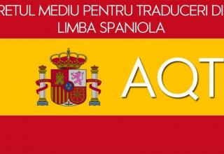 pretul mediu pentru traducerile din limba spaniola